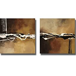 Copper Concerto I & II by Maitland 2pc Stretched Canvas Set (Ready-to-Hang)