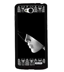 PRINTVISA Girl Gangster Premium Metallic Insert Back Case Cover for LG L90 - D5755