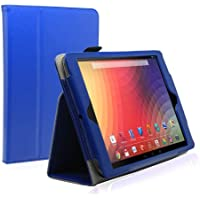 KaysCase FlipStand Leather Case Cover For Google Nexus 10 Inch Tablet With Sleep/Wake Function (Royal Blue)