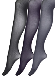 3 Pairs of Body Sensor™ 40 Denier 3D Waistband Tights