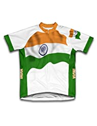 India Flag Short Sleeve Cycling Jersey for Women