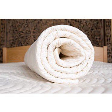 """3"""" All Natural Latex Mattress Topper With Organic Cotton Cover - Queen Size front-189644"""