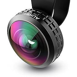 Aukey® Lente Gran Angular 238° para teléfonos inteligentes iPhone Samsung HTC Sony PL-WD02 Negro