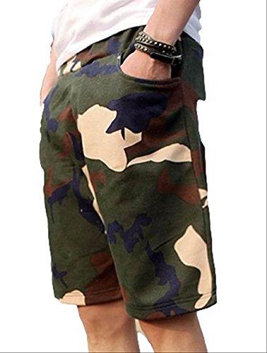 (アルファーフープ) α-HOOP 大きい サイズ も 迷彩 柄 スウェット ハーフ パンツ 短 パン メンズ 大人 男 性 用 A31