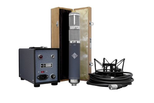 Telefunken Ar-70 Stereo | Tube Condensor Microphone With Modern Power Supply, Shock Mount, And Wooden Box