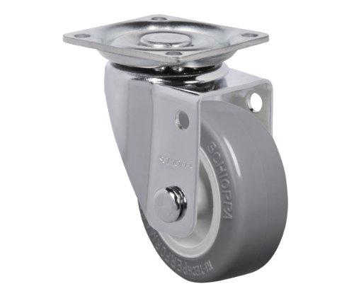 "Schioppa, Glap 210 Bp, 2"" (50 Mm) Swivel Non-Brake Caster, Non-Marking Thermoplastic Pvc Wheel, 70 Lbs, Plate: 1-21/32 X 1-21/32"" (Bh 1-1/4 X 1-1/4"") front-595315"