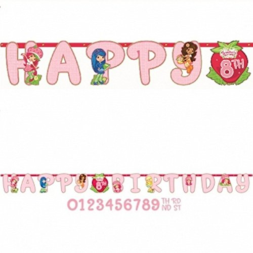 Strawberry Shortcake 'Dolls' Jumbo Letter Banner Kit (1ct) - 1