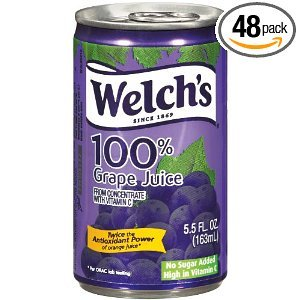 Welch's Purple Grape Juice Cans, 4 PK (Pack of 6)