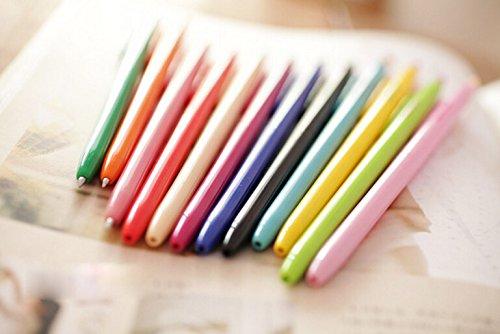 12 Couleurs Marqueur Stylo à encre de Papeterie école commandé peinture Deco Style créatifs Multicolore Candy Color Mode Jeu mignon