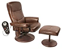 Big Sale Relaxzen 60-425111 Leisure Massage Reclining Chair with Heat In Comfort Soft Upholstery, Brown