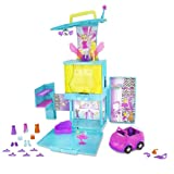 Polly Pocket Magic Fashion Stage Pop 'n Lock Transforming Playset with Bonus DVD