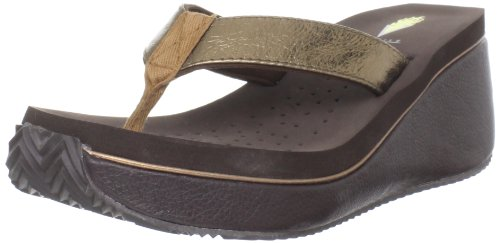 Brown Leather Flip Flops Women