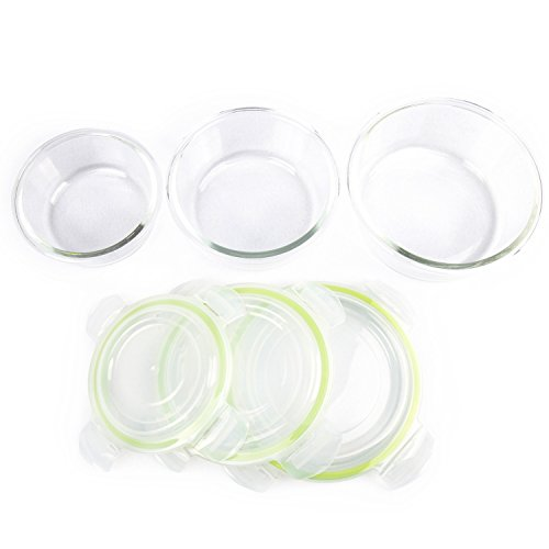 Zenware 20 Piece Microwave Safe Glass Food Storage Container Set (10 Lids / 10 Containers)