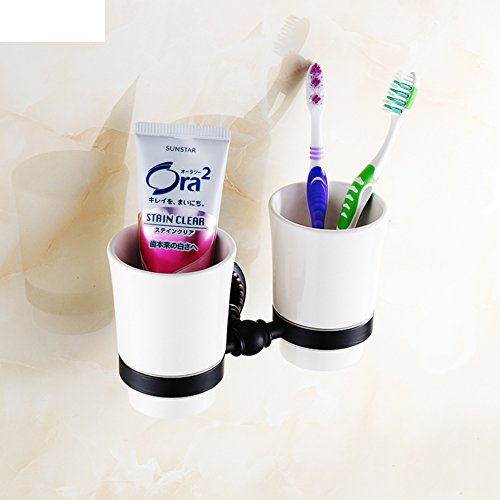 Black bronze toothbrush cup holder/Tumbler/Ceramic cup double cup holder