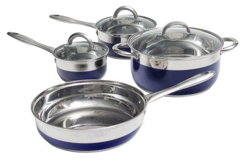 Oster 69484.07 Merton 7-Piece Cookware Set, Blue (Oster Derrick compare prices)