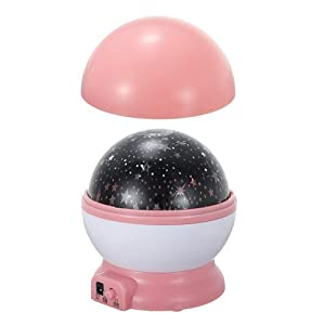 Pink Starry Star Master Moon Sky Romantic Night Projector Light Lamp from Beautymall