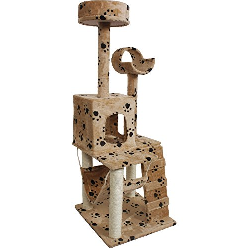 52-cat-kitty-tree-tower-condo-furniture-scratch-post-pet-house-toy-beige-paws