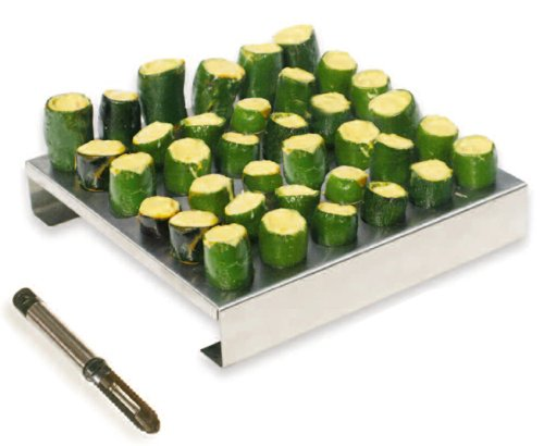 Find Cheap King Kooker 36JR Stainless-Steel 36-Hole Jalapeno Rack with Corer