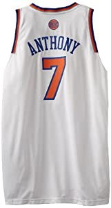 NBA New York Knicks White Swingman Jersey Carmelo Anthony #7 by adidas
