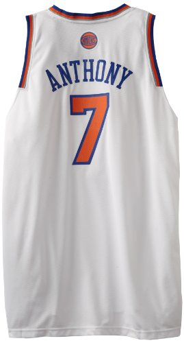 NBA New York Knicks White Swingman Jersey Carmelo Anthony 7 Medium