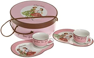 Rosanna Play Date Children's Set of 2 Cups and Luncheon Plates, Gift-boxed