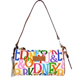 Dooney & Bourke Retro Logo Small Barrel Bag White