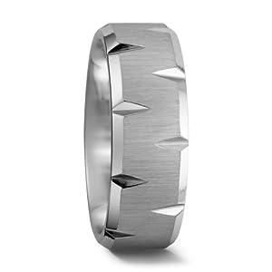 Partnerring Kobalt, Materialstärke: 2.3 mm, Oberfläche: poliert / sandmatt, Ringbreite: 7 mm Grösse 58