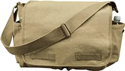 Khaki Classic Army Messenger Heavy Weight Shoulder Bag