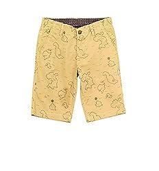 Aristot Boys' Treasure Island Beige Printed Bermuda Shorts