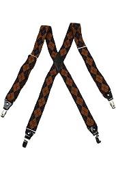 YFA0101 Mens X-Back Clip Suspenderss Suspenders Clip on By Y&G