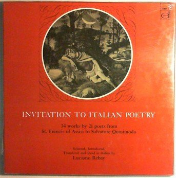 Invitation To Italian Poetry - Read By Luciano Rebay - Vinyl Lp Record Set