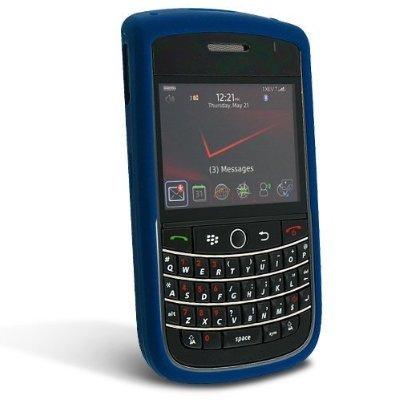 BlackBerry Silicone Rubber Gel Skin Case Cover Wrap for BlackBerry Tour 9630 (Dark Blue) [Bulk Packaging] by Blackberry
