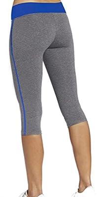 4How Women's Capri Tights Running Yoga Pants Fitness Leggings