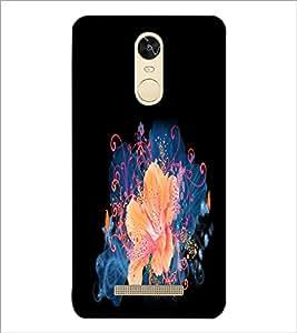 PrintDhaba Flower D-2153 Back Case Cover for XIAOMI REDMI NOTE 3 MEDIATEK (Multi-Coloured)