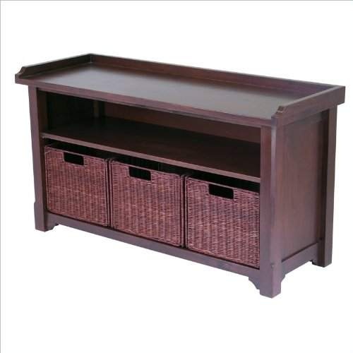 Winsome® Storage Bench with Baskets
