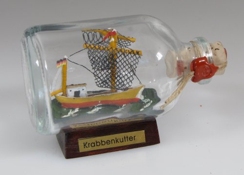 Krabbenkutter Mini Buddelschiff