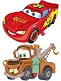 SET OF 2 Squashy Washy - Disney Cars - Grosvenor & Lightening McQueen