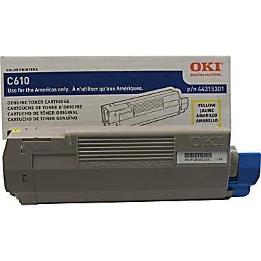 44315301 44315301 Oki Toner Cartridge - Yellow - Led - 6000 Page - 1 Each - 44315301