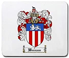 Wennam Family Shield / Coat of Arms Mouse Pad