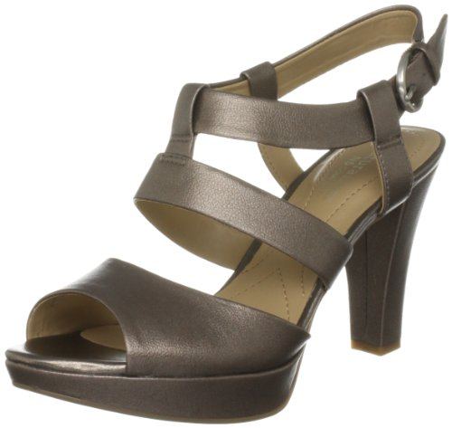 Naturalizer Women's Kirby Nickel Alloy Metallic Open Toe A5581 3 UK