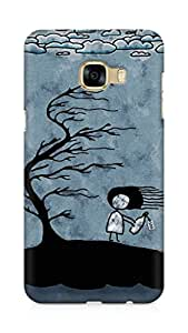 Amez designer printed 3d premium high quality back case cover for Samsung Galaxy C5 (Girl n Tree)