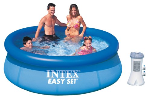 "Intex 8' x 30"" Easy Set Inflatable Above Ground Pool w/ 530 GPH Filter Pump"