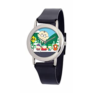 South Park Men's D1539SS414 Torino Collection Mr. Mackey Black Plastic Strap Watch