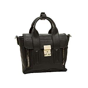 Kattee Luxury Monster Style Genuine Leather Mini Satchel Handbag Messenger Bag