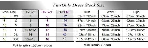 5c0b06a547 ... Faironly M58 White Ivory Wedding Dress Bride Gown (L, White)