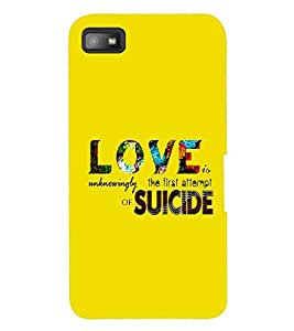 printtech Love Suicide Back Case Cover for BlackBerry Z10