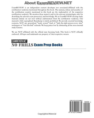 North Carolina Accident & Health Insurance License Exam Review Questions & Answers 2016/17 Edition: Self-Practice Exercises focusing on the basic principles of insurance and NC specific rules