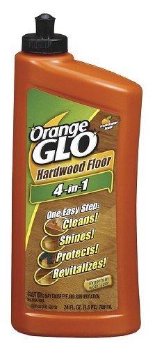 Orange Glo Hardwood Floor 4-in-1 One Easy Step Cleaner, Fresh Orange Scent 24 fl oz (710 ml),2pk (Orange Glo Wood Floor Cleaner compare prices)