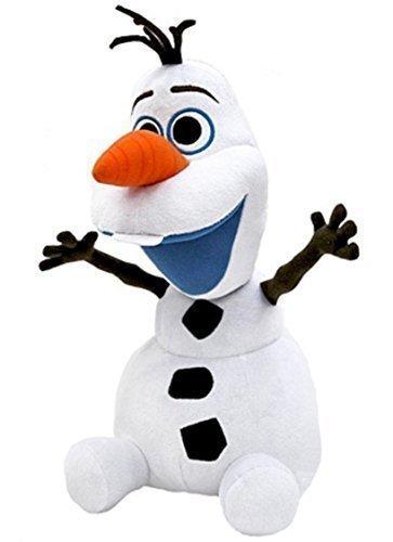"""Disney Frozen Soft Plush Smiling Olaf Snowman. Total H - 14"""" (37cm) . Japan Import. - 1"""
