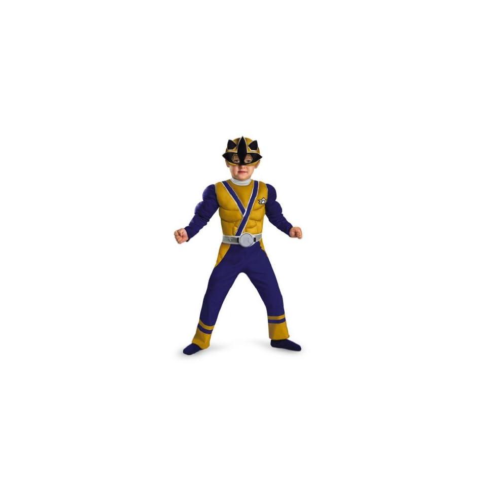 Power Rangers Samurai Gold Ranger Toddler Boys Muscle Costume